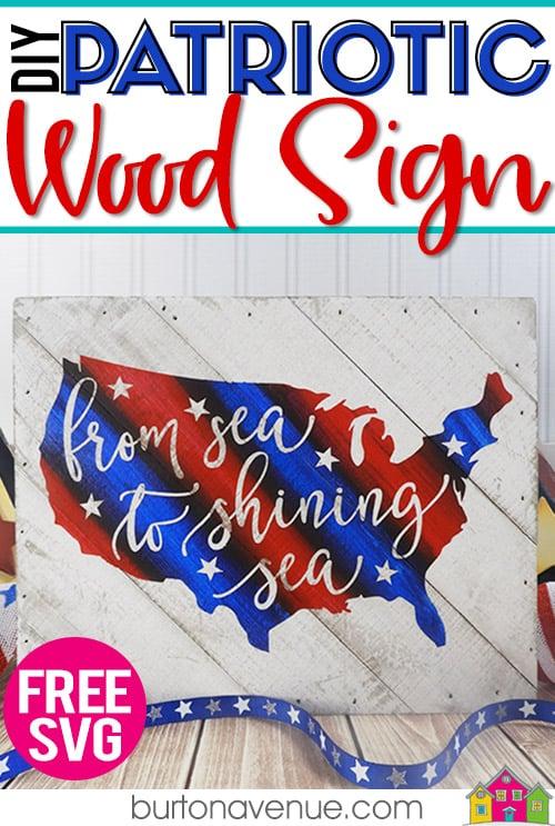DIY Patriotic Wood Sign