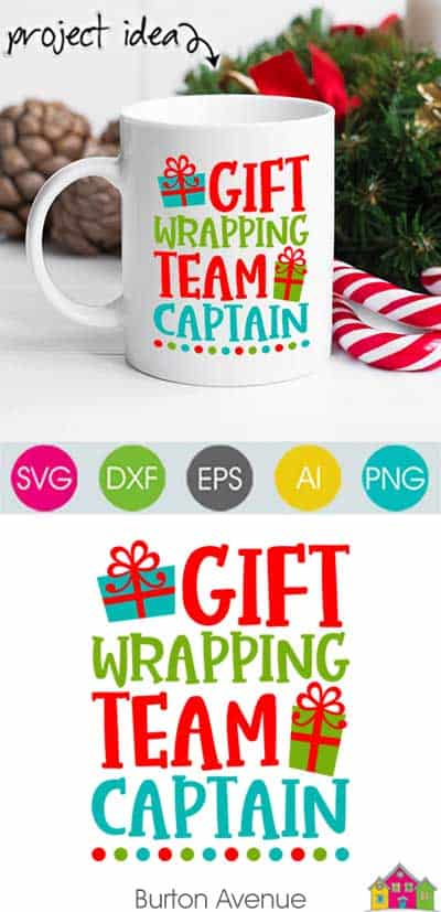 Gift Wrapping Team Captain SVG File