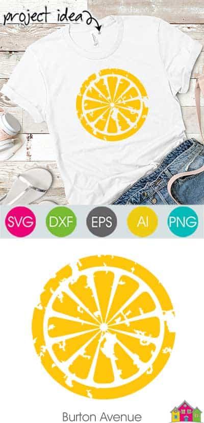 Grunge Lemon SVG File