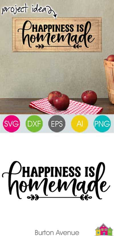 Happiness is Homemade SVG File