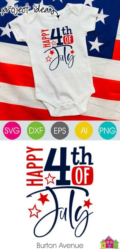 Happy 4th of July SVG File