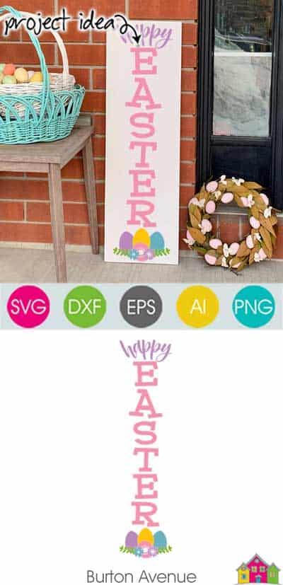 Happy Easter Vertical SVG File