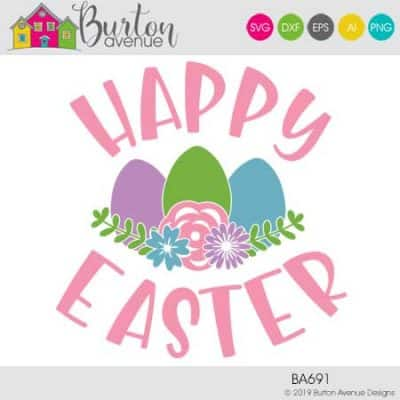 This free Easter SVG file will be available to download for free until 4/25/19 and works with Cricut, Silhouette, Brother and other electronic cutting machines. So many possibilities of Easter projects with this Free Easter SVG File. Make signs, and more with this Free Easter SVG file. Free Ai, SVG, PNG, EPS & DXF download. #eastersilhouette #eastercircut #easterbrother #eastersvg