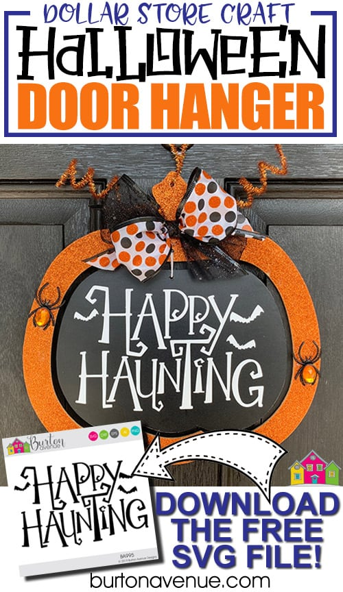 Dollar Tree Makeover: Easy Halloween Door Hanger