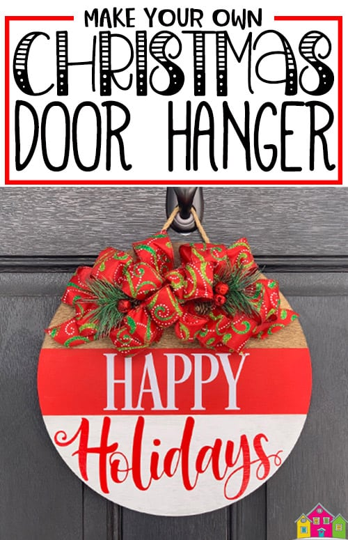 DIY Christmas Door Hanger