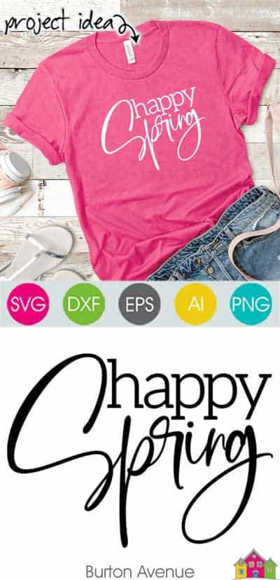 Happy Spring SVG File
