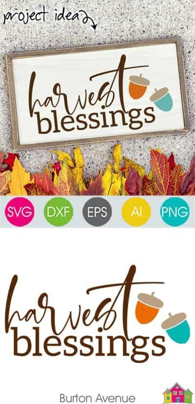 Harvest Blessings SVG File