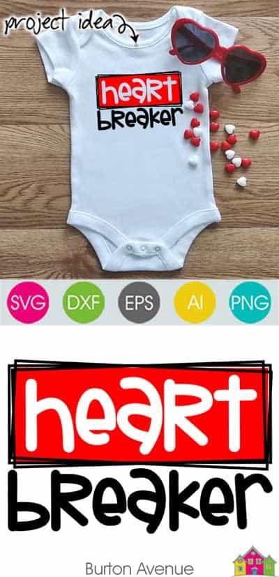 Heart Breaker SVG File