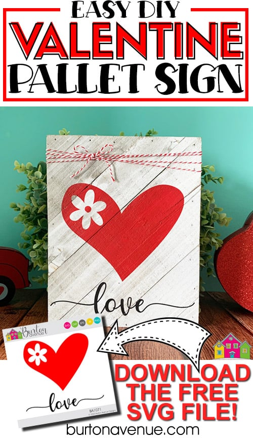 DIY Easy Valentine Pallet Sign