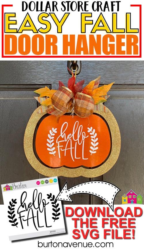 Dollar Tree Makeover: Easy Fall Door Hanger