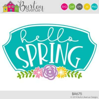 This free SVG file will be available to download for free until 3/21/19. So many possibilities of DIY projects with this Hello Spring with Flowers SVG. Make signs, pillows, t-shirts and more with this Hello Spring with Flowers SVG file. Free Ai, SVG, PNG, EPS & DXF download. Hello Spring with Flowers SVG files works with Cricut, Cameo Silhouette and other major cutting machines. #springsilhouette #springcircut #springsvg #silhouette #cricutexplore