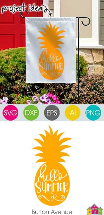 Hello Summer in Pineapple – Limited Time Free SVG File