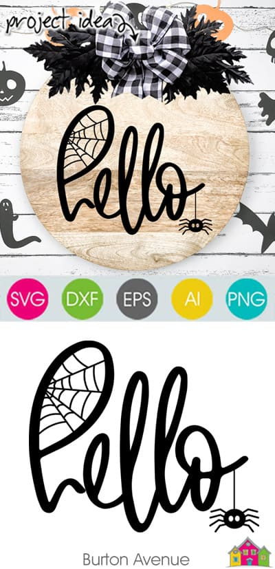 Hello with Spider SVG File