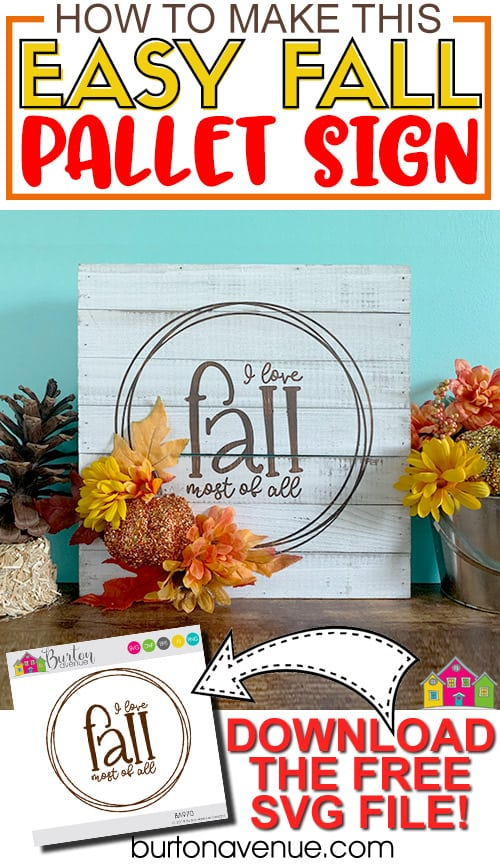DIY Easy Fall Pallet Sign