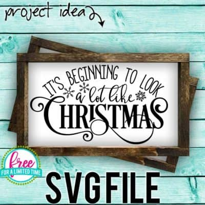So many possibilities of DIY projects with this Free It's Beginning to Look a lot Like Christmas SVG. Make signs, pillows, t-shirts and more for with this Free It's Beginning to Look a lot Like Christmas SVG file . Free Ai, SVG, PNG, EPS & DXF download. FreeIt's Beginning to Look a lot Like Christmas SVG files works with Cricut, Cameo Silhouette and other major cutting machines. #christmassvg #christmascricut #christmassilhouette #merrychristmassvg #silhouette #cricutexplore