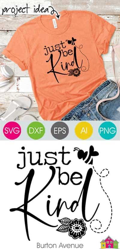Just Be Kind SVG File