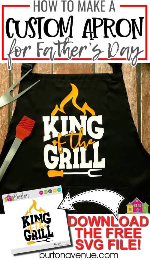 DIY Custom Apron for Father's Day