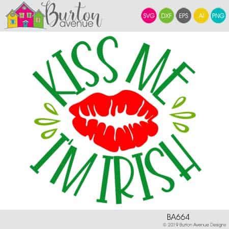View Kiss Me I'm Irish Svg Image