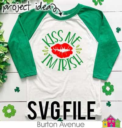 This free SVG file will be available to download for free until 3/7/19. So many possibilities of DIY projects with this Kiss me I'm Irish SVG. Make signs, pillows, t-shirts and more with this Kiss me I'm Irish SVG file. Free Ai, SVG, PNG, EPS & DXF download. Kiss me I'm Irish SVG files works with Cricut, Cameo Silhouette and other major cutting machines. #stpatrickssilhouette #stpatrickscircut #stpatrickssvg #silhouette #cricutexplore