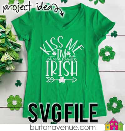 This free SVG file will be available to download for free until 3/19/19. So many possibilities of DIY projects with this Kiss me I'm not even Slightly Irish SVG. Make signs, pillows, t-shirts and more with this Kiss me I'm not even Slightly Irish SVG file. Free Ai, SVG, PNG, EPS & DXF download. Kiss me I'm not even Slightly Irish SVG files works with Cricut, Cameo Silhouette and other major cutting machines. #stpatrickssilhouette #stpatrickscircut #stpatrickssvg #silhouette #cricutexplore