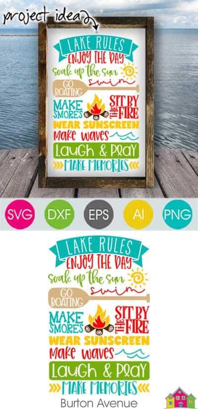 Lake Rules SVG File