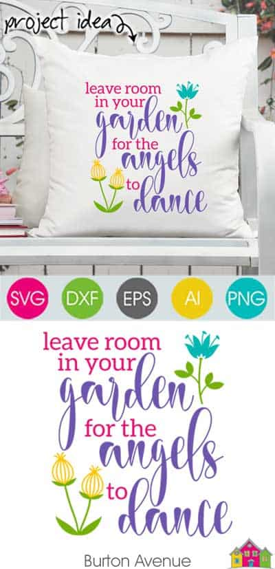 Leave Room in your Garden SVG File
