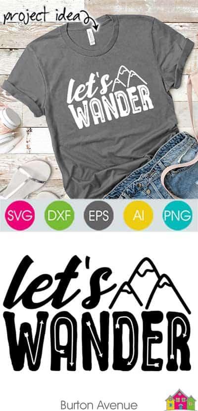 Let's Wander SVG File