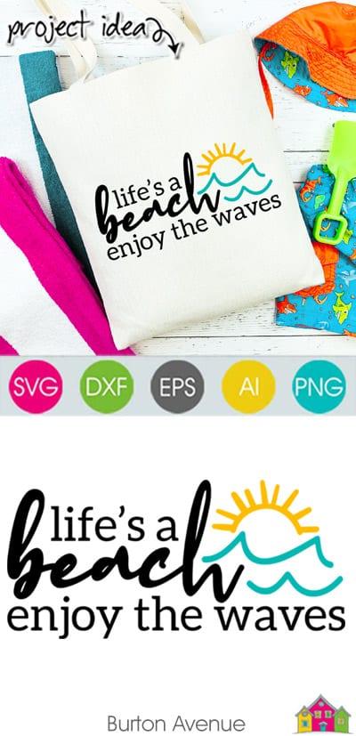 Life's a Beach SVG File