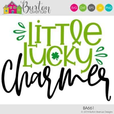 This free SVG file will be available to download for free until 3/5/19. So many possibilities of DIY projects with this Little Lucky Charmer SVG. Make signs, pillows, t-shirts and more with this Little Lucky Charmer SVG file. Free Ai, SVG, PNG, EPS & DXF download. Little Lucky Charmer SVG files works with Cricut, Cameo Silhouette and other major cutting machines. #stpatrickssilhouette #stpatrickscircut #stpatrickssvg #silhouette #cricutexplore