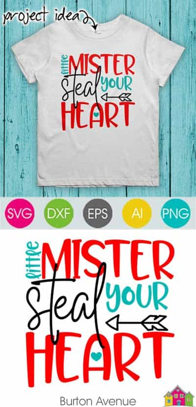 Little Mister Steal Your Heart SVG File