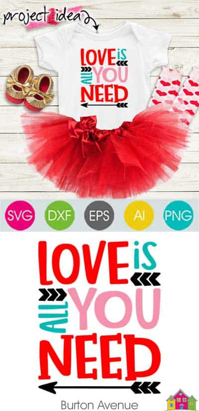 Love is all You Need SVG File