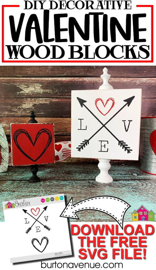 DIY Decorative Valentine Wood Blocks