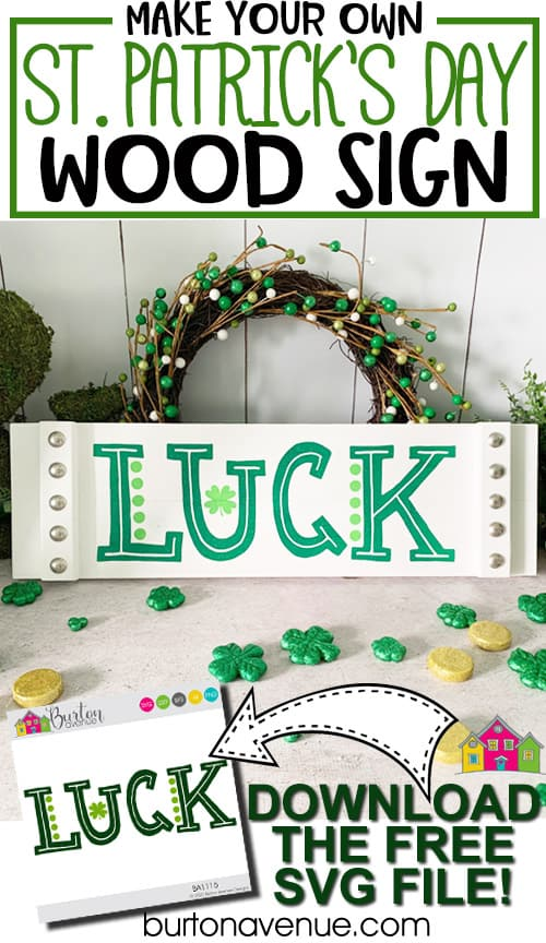 DIY St. Patrick's Day Wood Sign