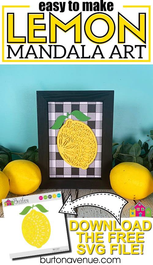 DIY Lemon Mandala Art for Silhouette & Cricut