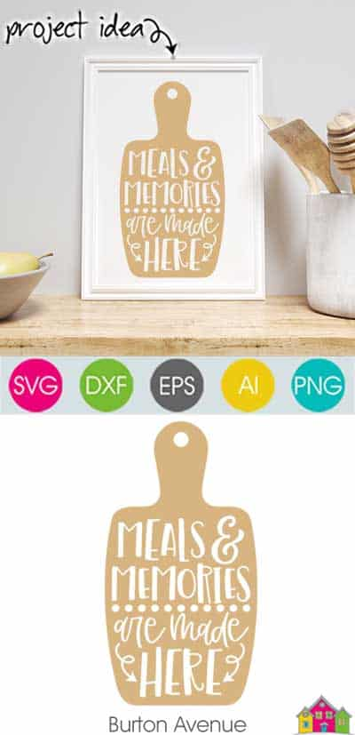 Meals and Memories are Made Here SVG File