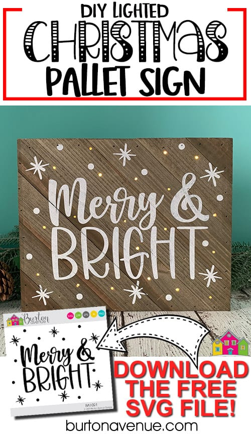 DIY Lighted Christmas Pallet Sign
