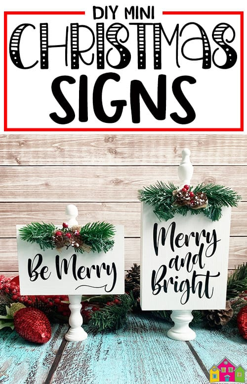 DIY Mini Christmas Signs