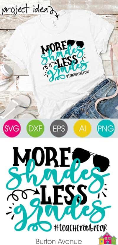 More Shades Less Grades SVG File