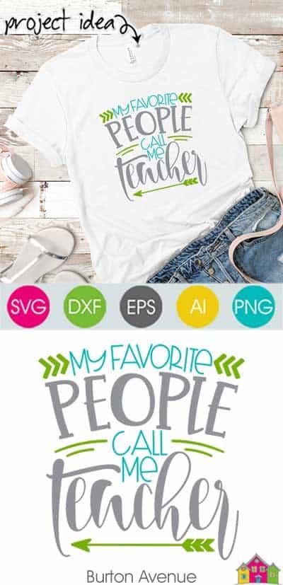 My Favorite People Call me Teacher SVG File