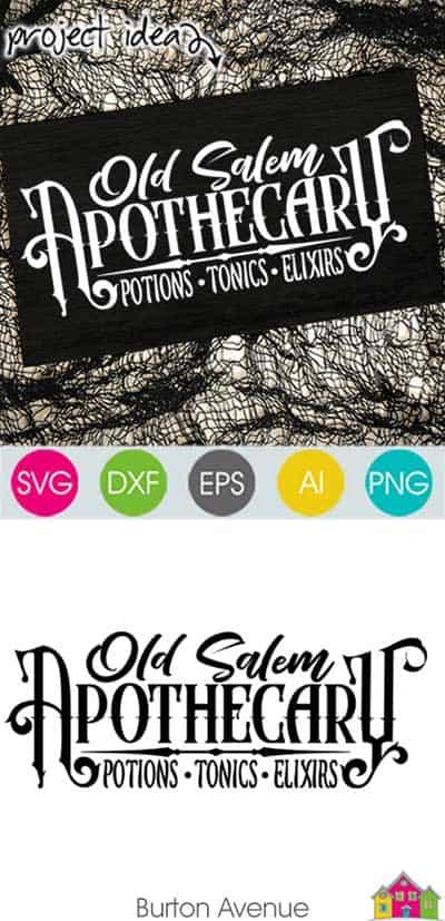 Old Salem Apothecary SVG File