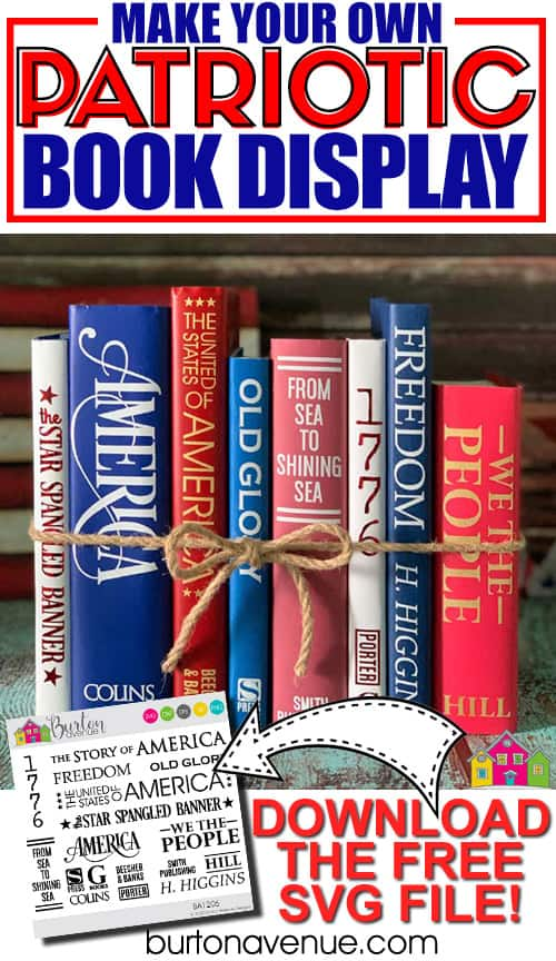 DIY Patriotic Book Display for Silhouette & Cricut