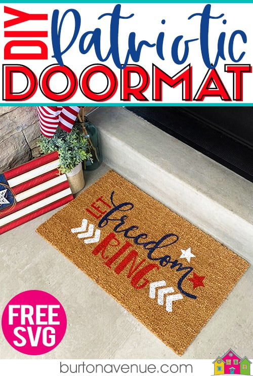 DIY Patriotic Doormat