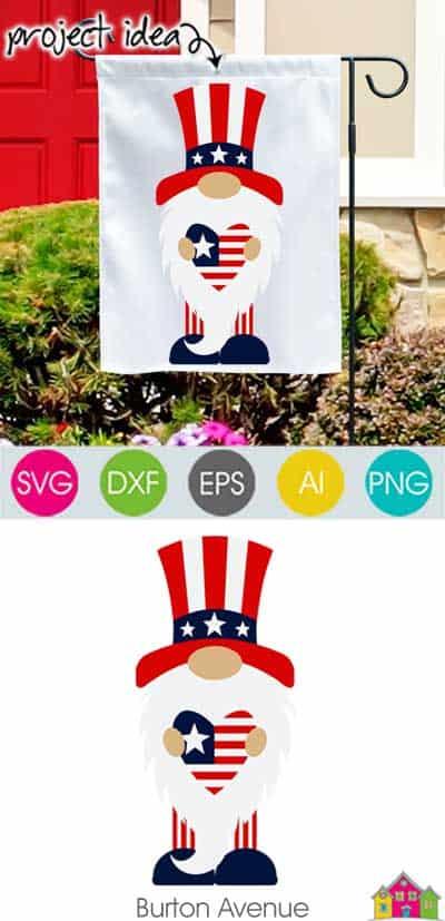 Patriotic Gnome SVG File
