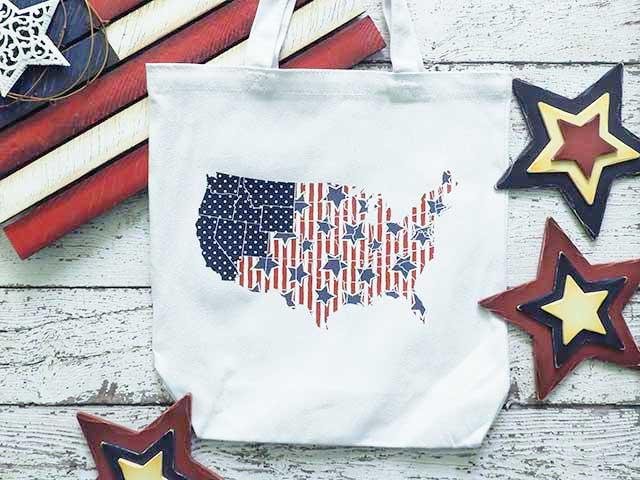 Patriotic Tote Bag from Burton Avenue