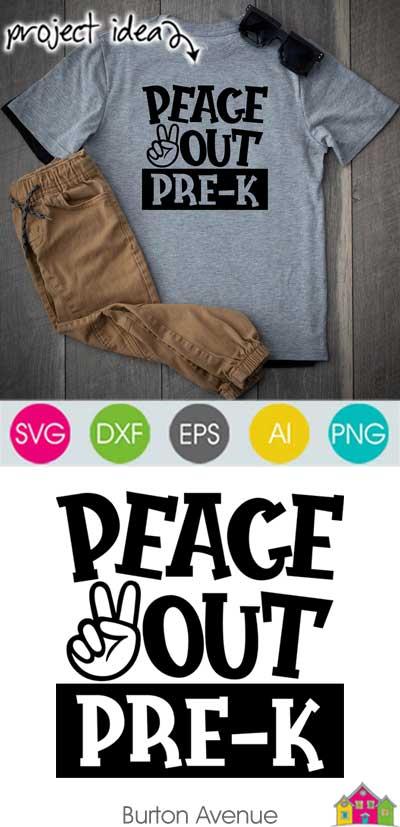 Peace Out Pre-K SVG File