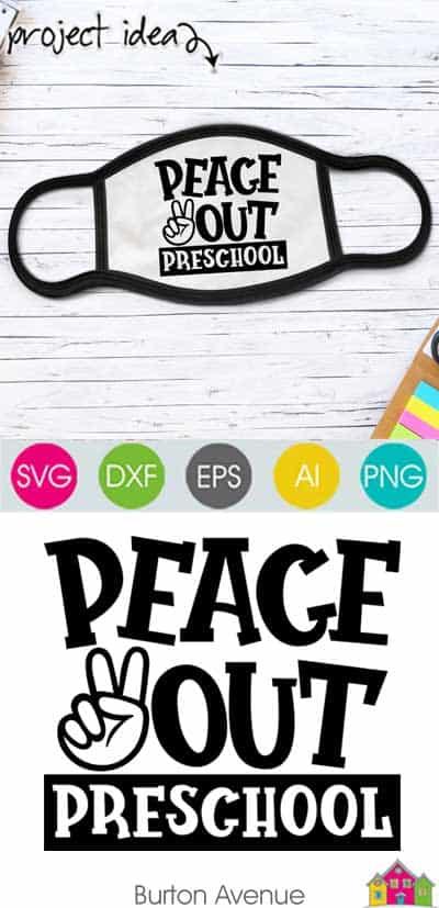 Peace Out Preschool SVG File