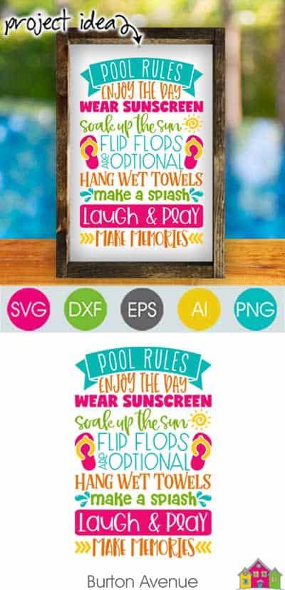 Pool Rules SVG File