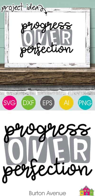Progress over Perfection – Limited Time Free SVG File