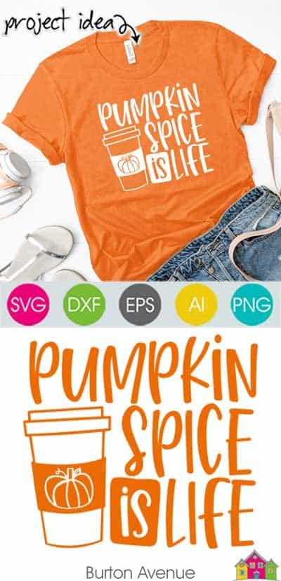 Pumpkin Spice is Life SVG File