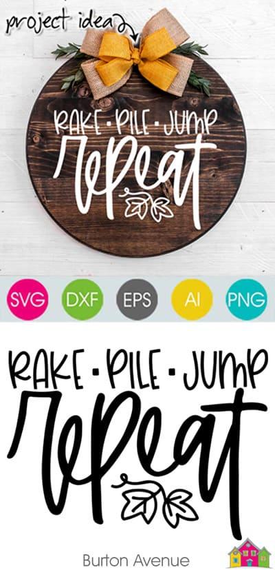 Rake Pile Jump Repeat SVG File